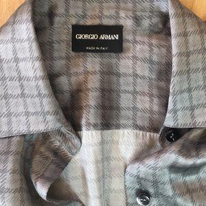 GIORGIO ARMANI Made in Italy 100% Silk Top